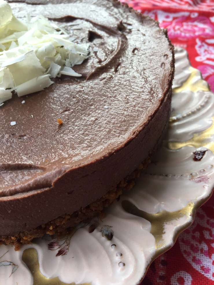 dairy-free, egg-free chocolate cheesecake