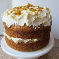 Banana and Passionfruit Birthday Cake