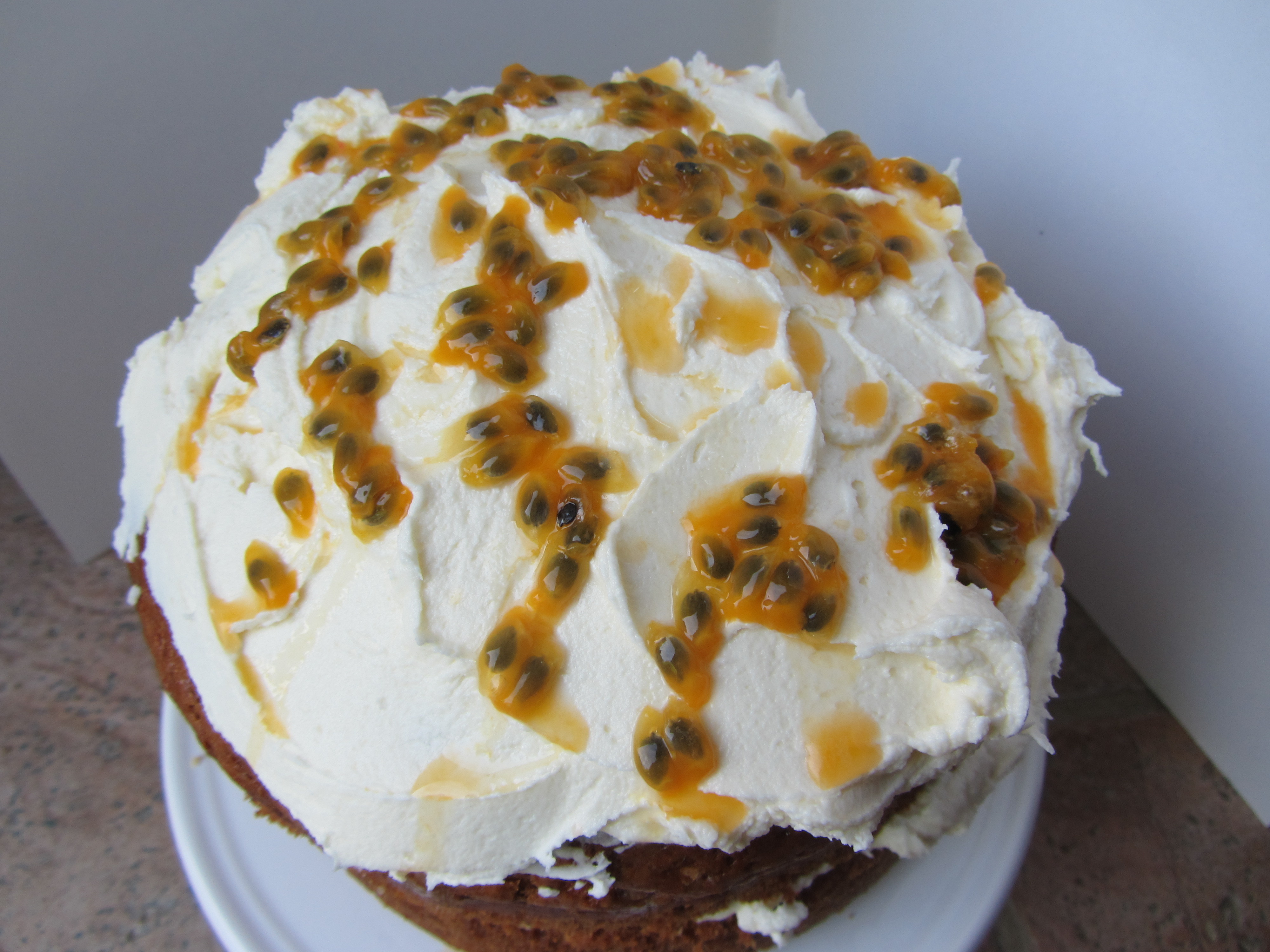 Banana And Passionfruit Birthday Cake Lucys Friendly Foods