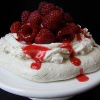 Egg-free Raspberry Pavlova