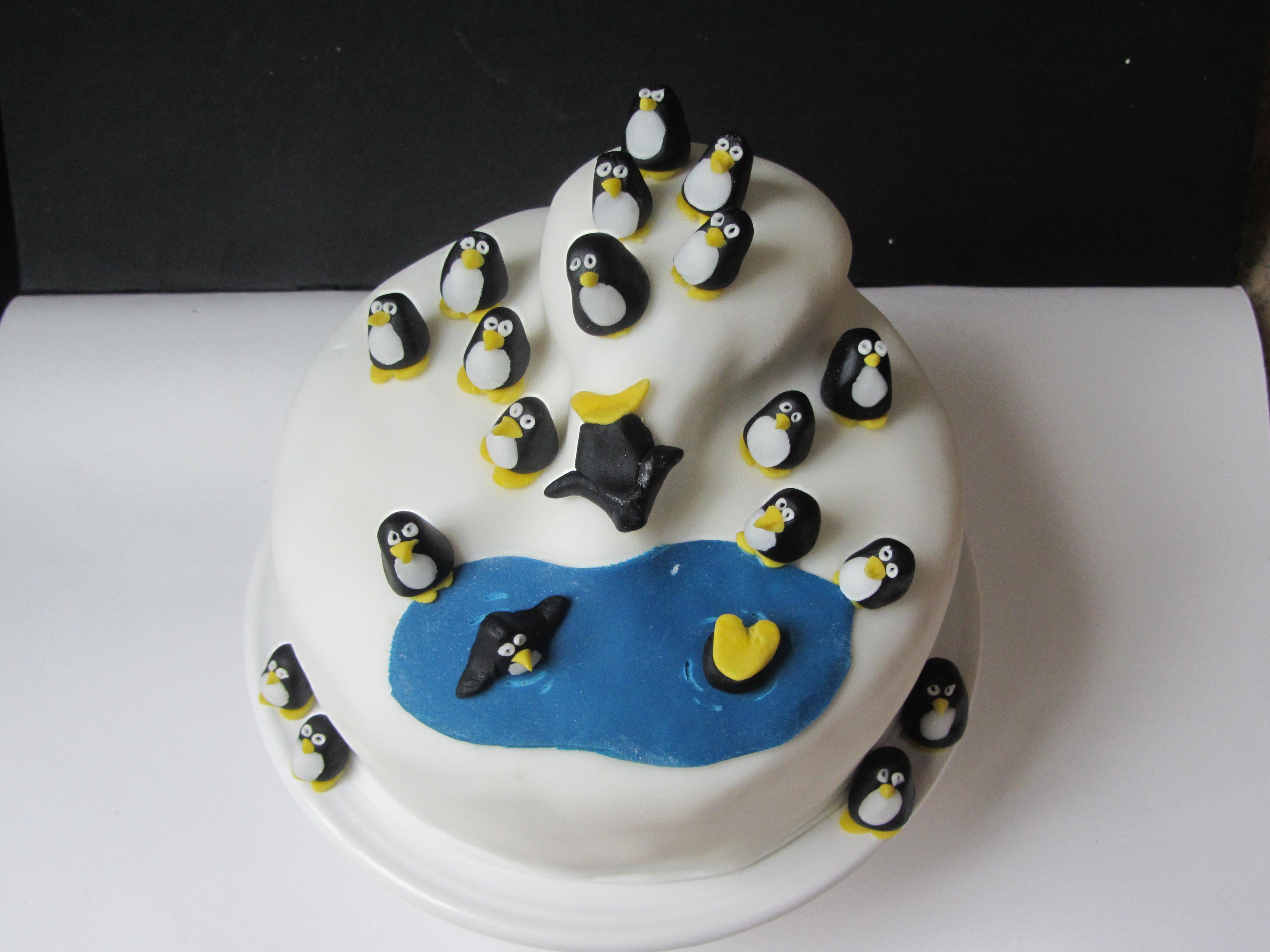 Penguin Themed Birthday Cake Lucys Friendly Foods