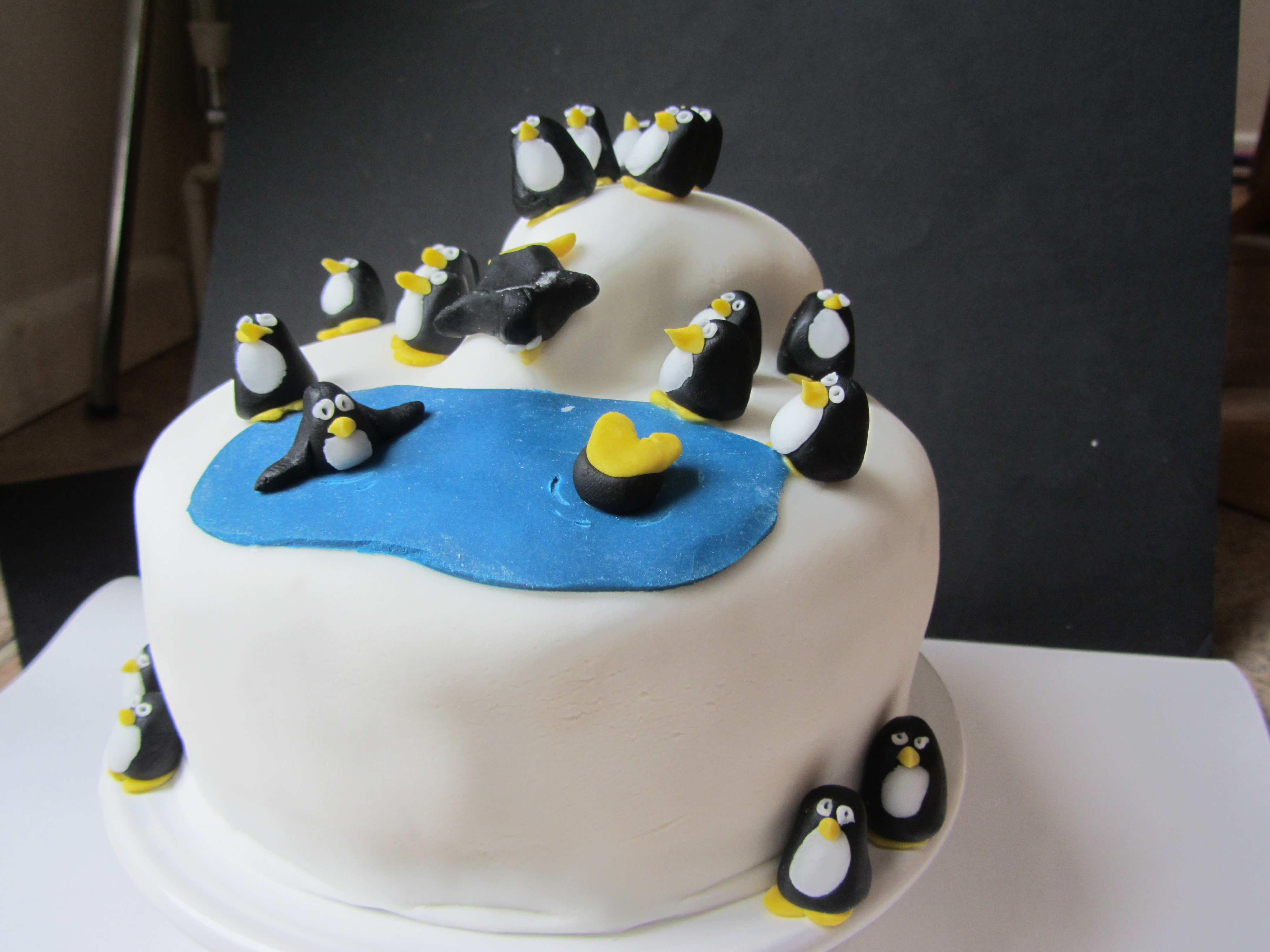 Pin 30th Birthday Cakes On Coolest Penguin Cake 47 Cake On