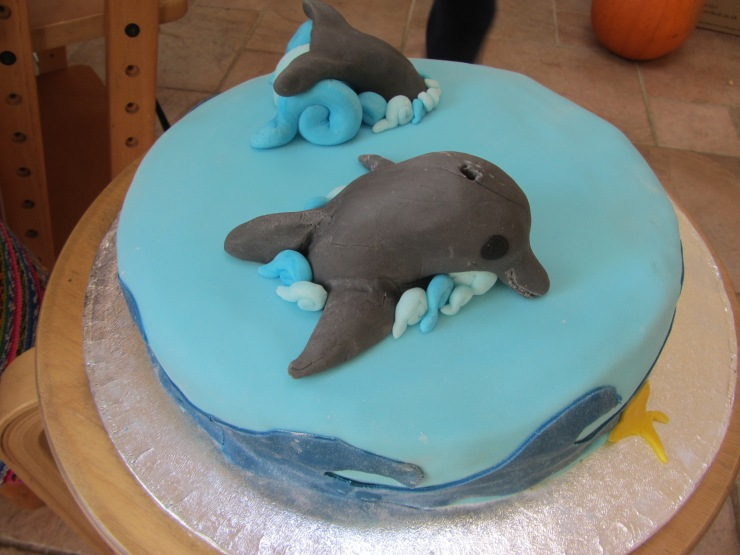 Dolphin Themed Birthday Cake Lucys Friendly Foods
