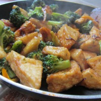Sweet and Sour Tofu and Broccoli
