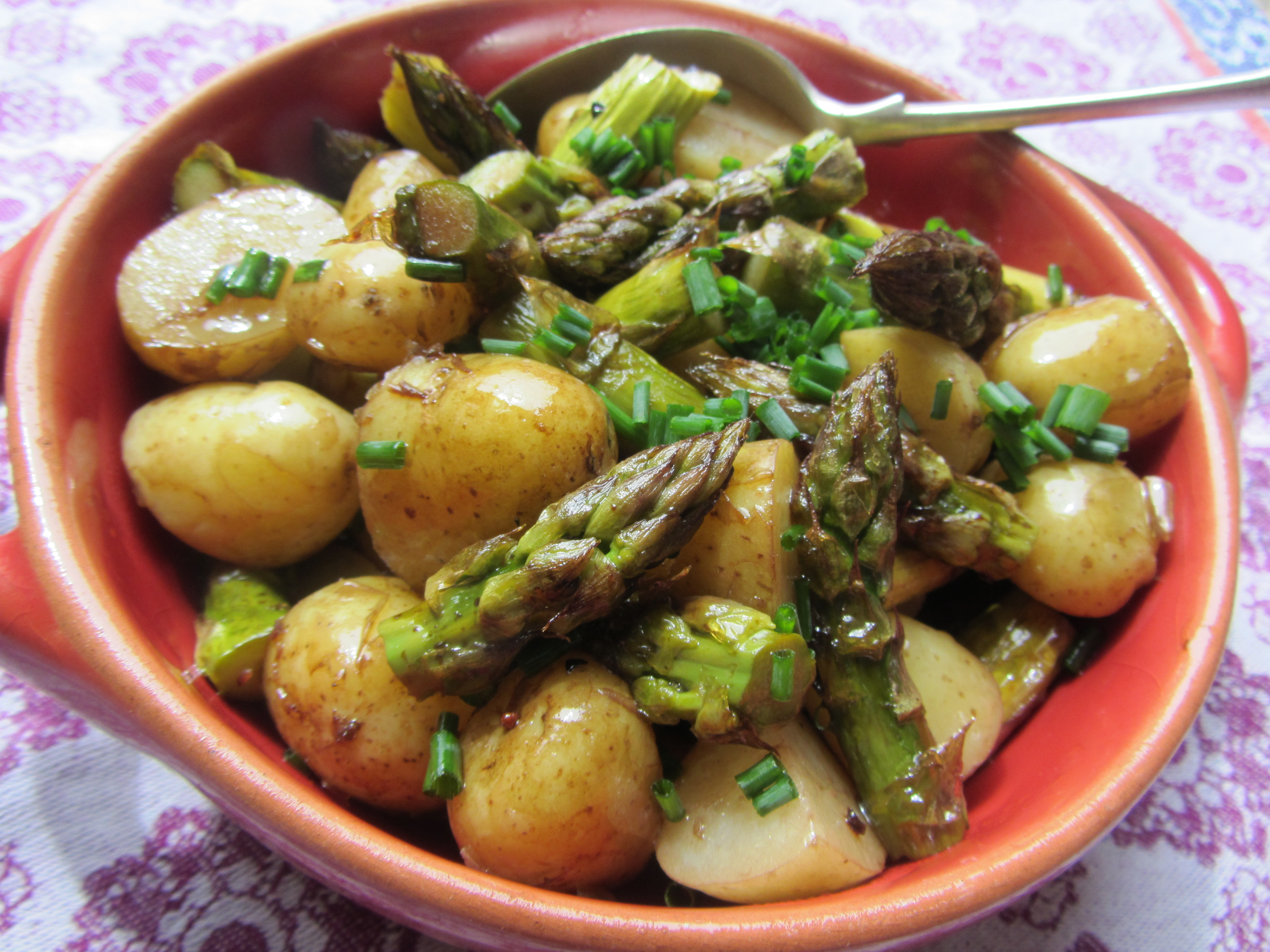 Roasted Asparagus and New Potato Salad | Lucy's Friendly Foods