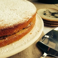 Classic Victoria Sponge Cake (without the eggs or dairy)