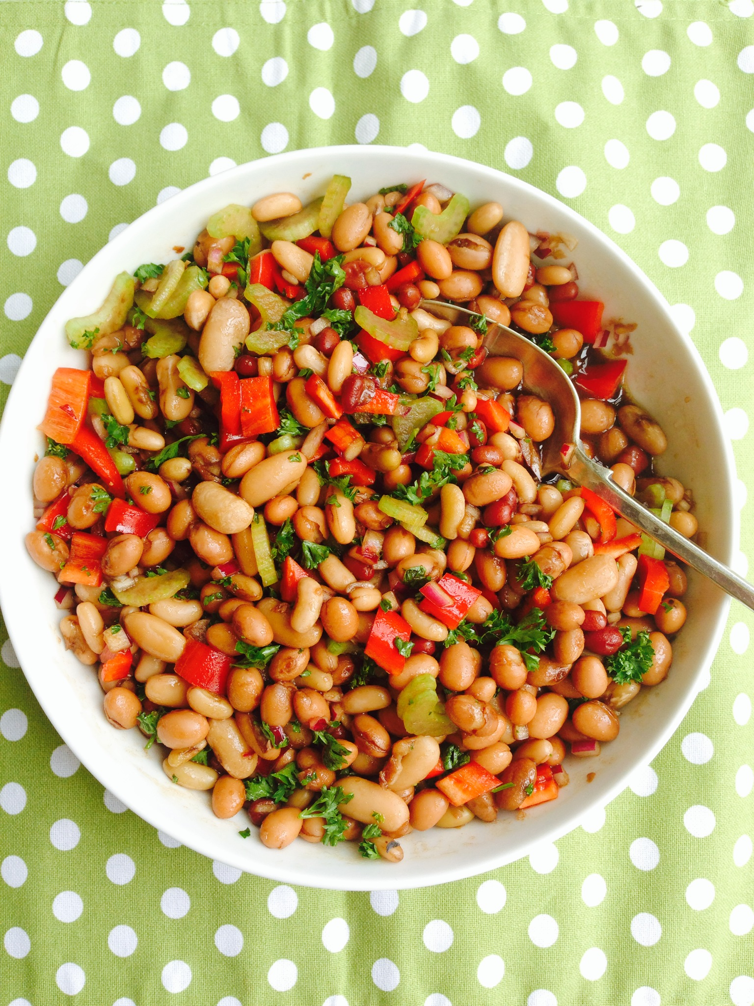 ... bean varieties you like in my opinion bean salads benefit from either