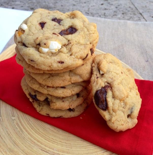 chocolate popcorn cookies, vegan