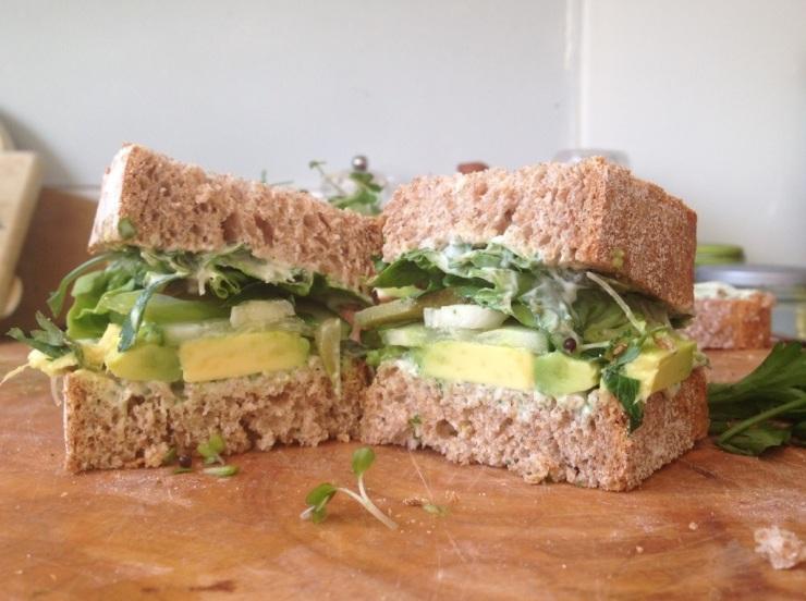 Green Goddess Vegan sandwich