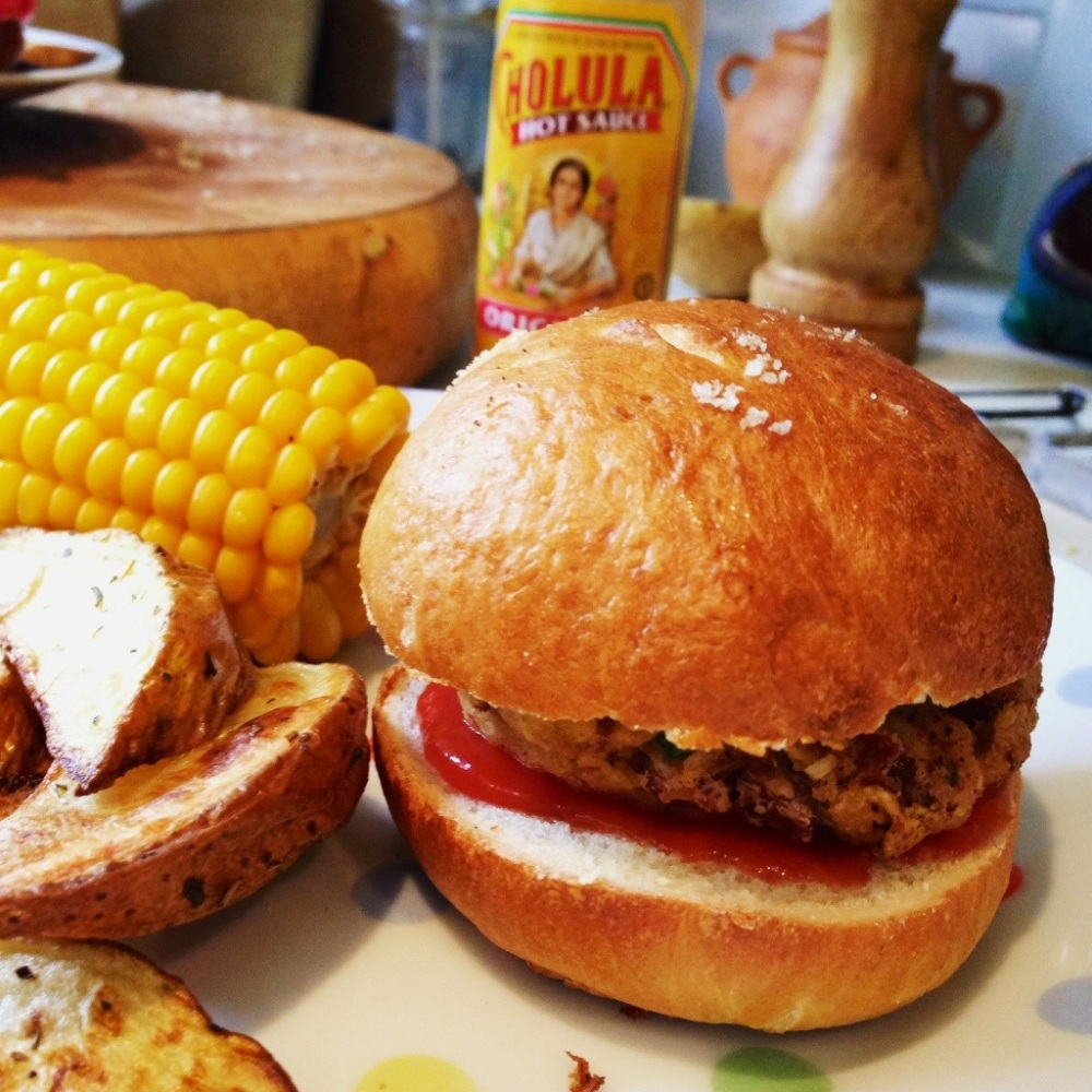 Knock your socks off tasty bean burger, Mexican Style
