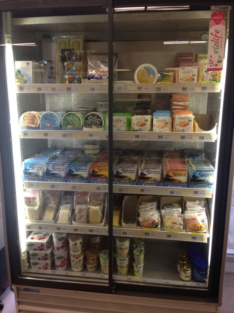 dairy-free cheese at Rice Up Wholefoods