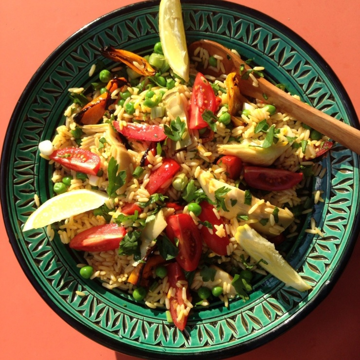 Vegetarian Paella Salad