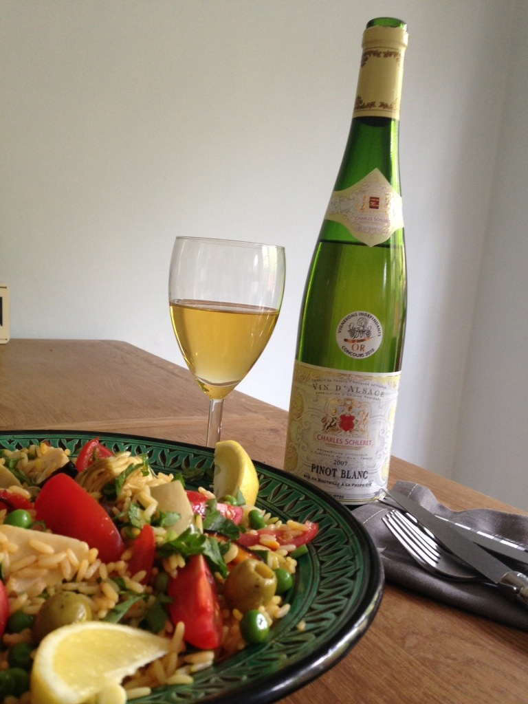 Pinot Blanc and Paella