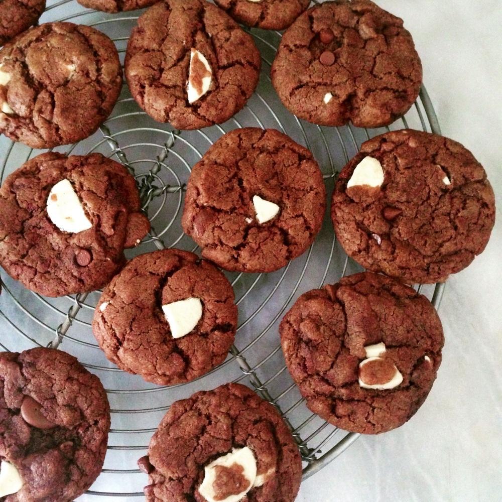 dairy-free, egg-free triple chocolate chip cookies