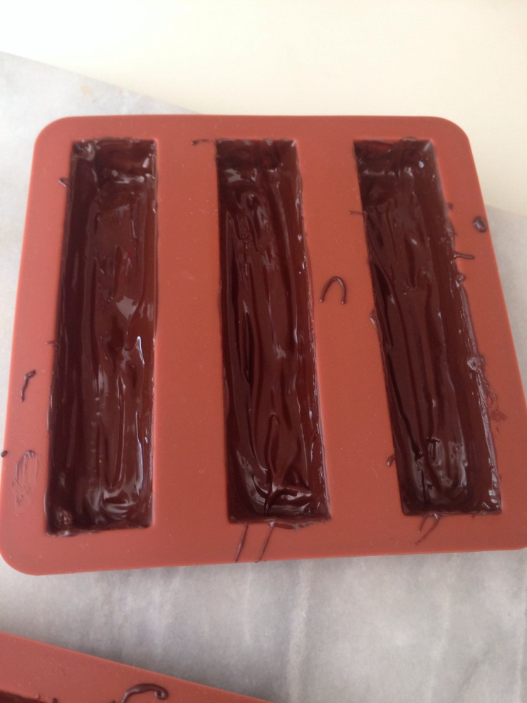 chocolate coated chocolate bar moulds
