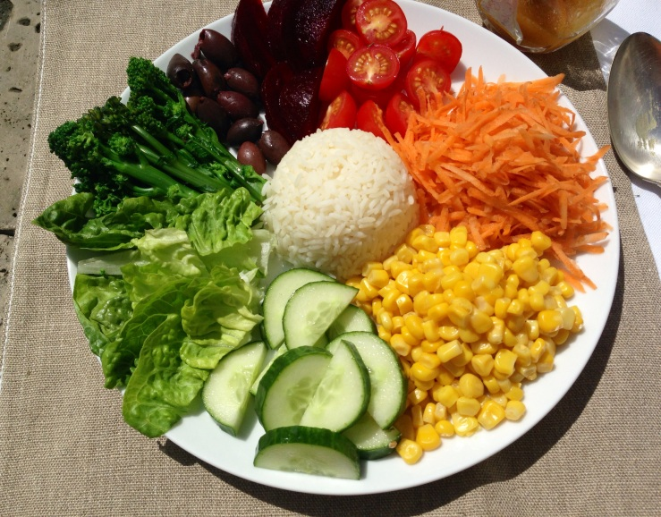 dairy-free, child friendly salad plate