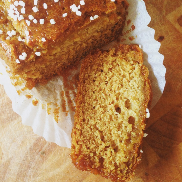 Sticky dairy-free, egg-free golden syrup cake