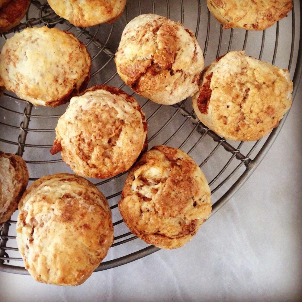 egg-free, nut free cinnamon scones