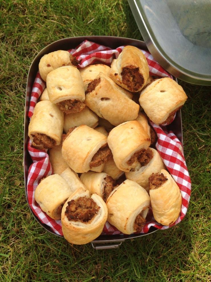 vegetarian sausage rolls, dairy-free, egg-free