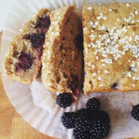 Blackberry and Banana Loaf Cake