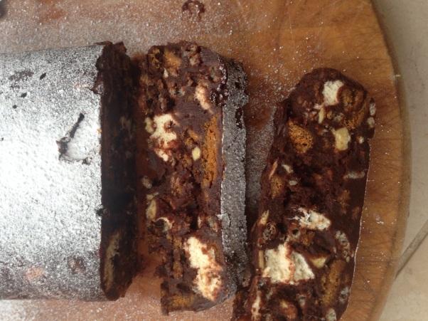 vegan chocolate terrine/refrigerator cake