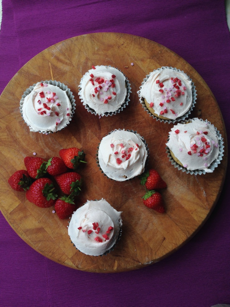 dairy-free, nut-free strawberry cupcakes