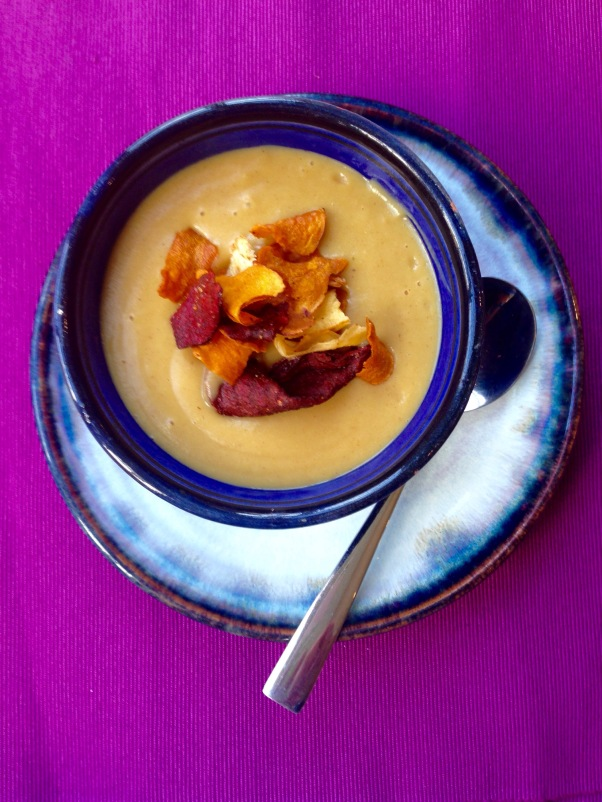 punchy parsnip soup, dairy-free