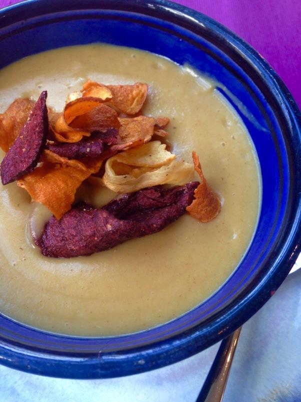 vegan spicy parsnip soup