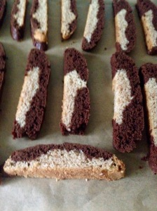 ready for second bake, egg-free biscotti