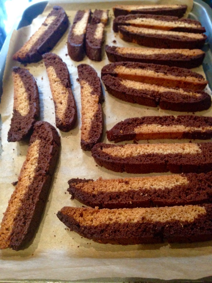 dairy-free cinnamon and cocoa biscotti
