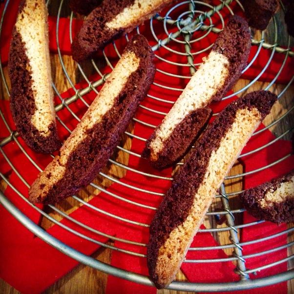 vegan christmas spiced biscotti