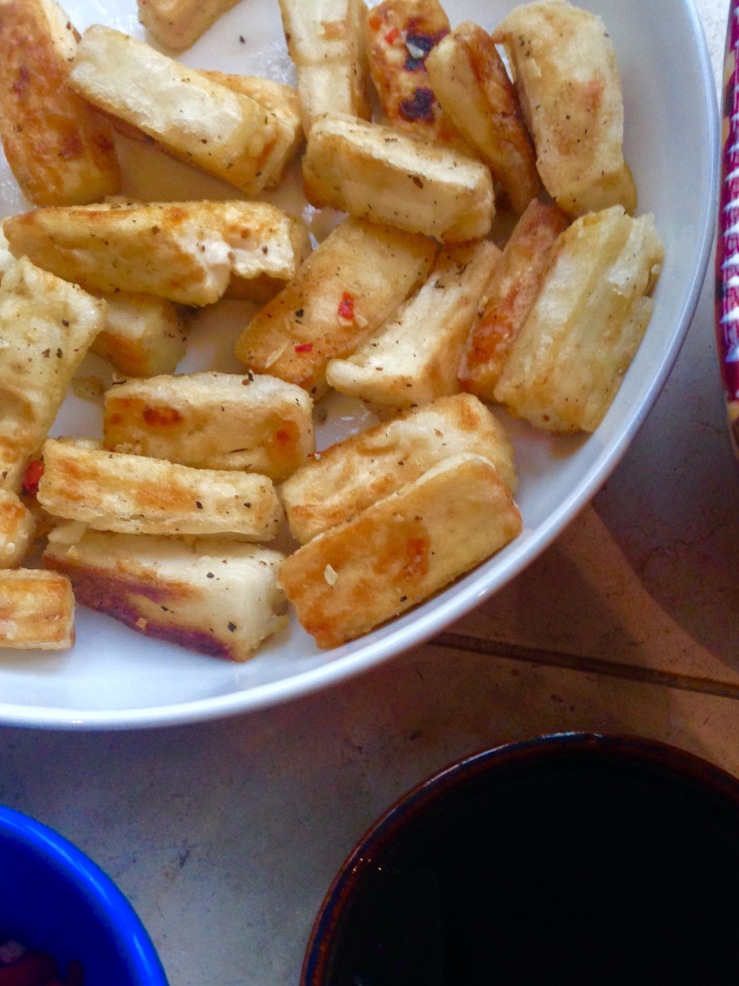 dairy-free, egg-free salt and pepper tofu