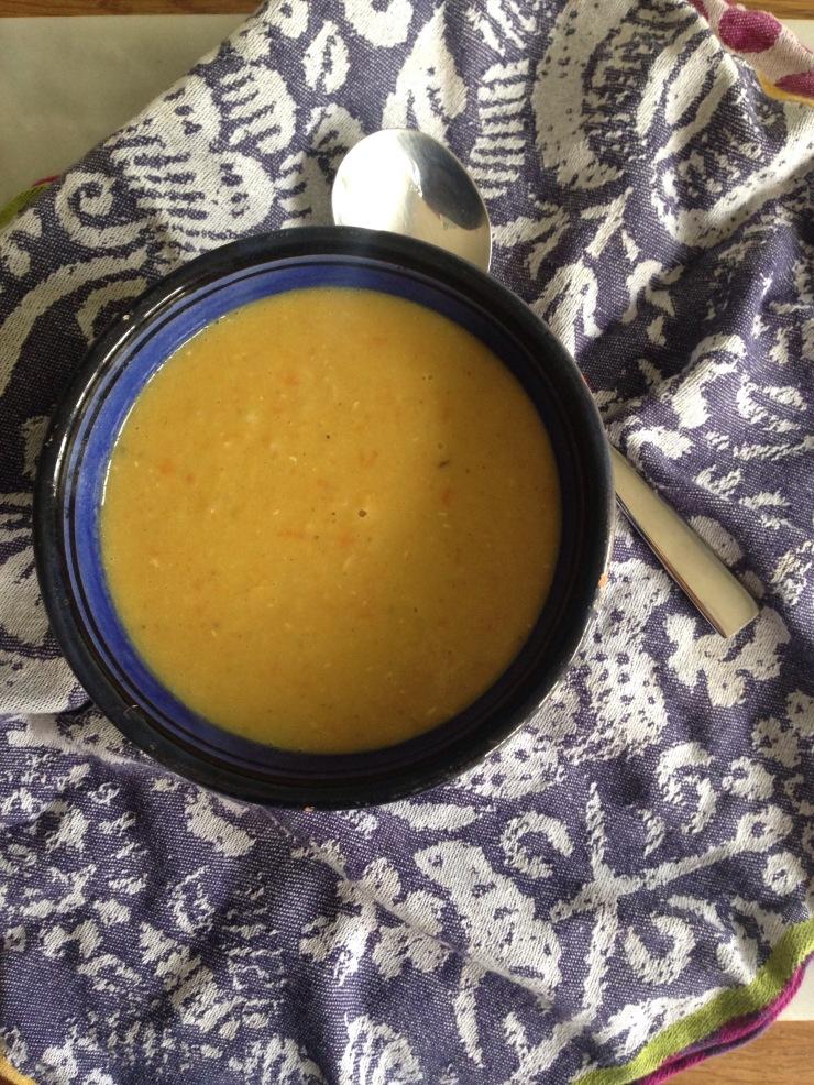 vegan curried lentil soup