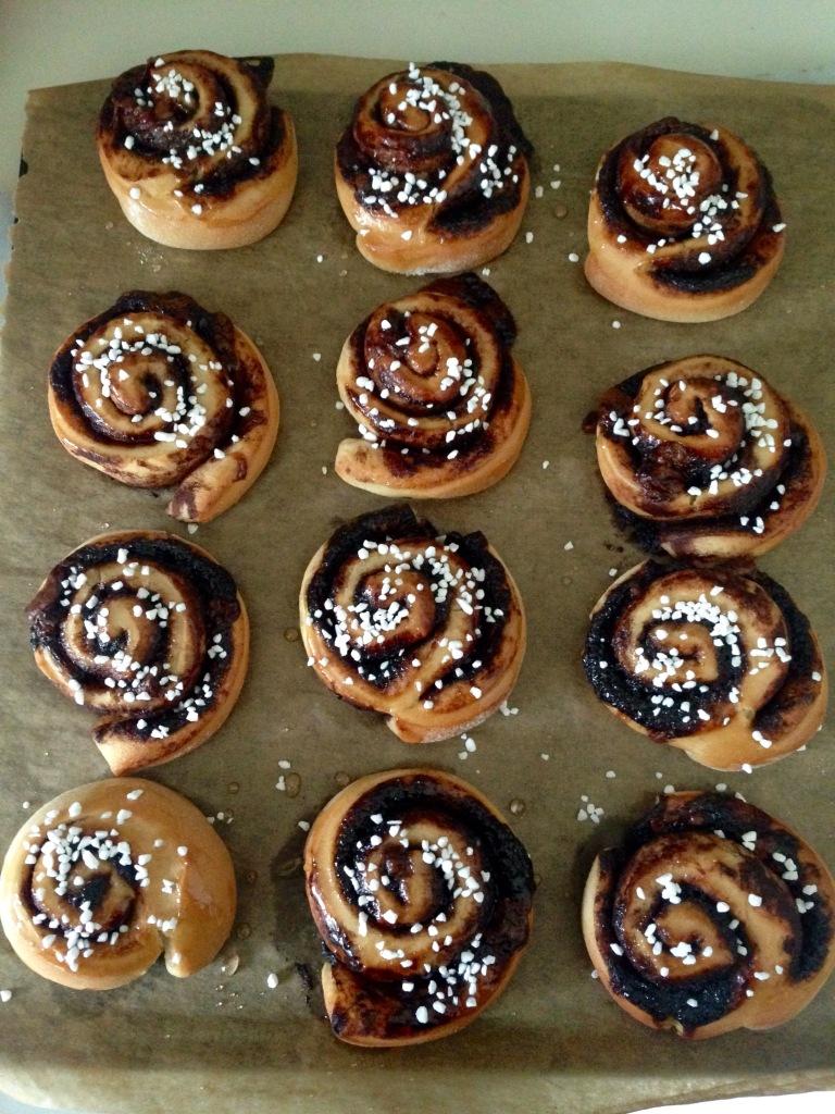 chocolate swirl pastries, no dairy
