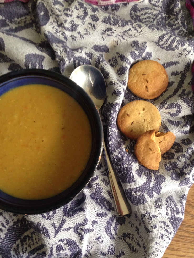 curried lentil dhal soup, dairy-free