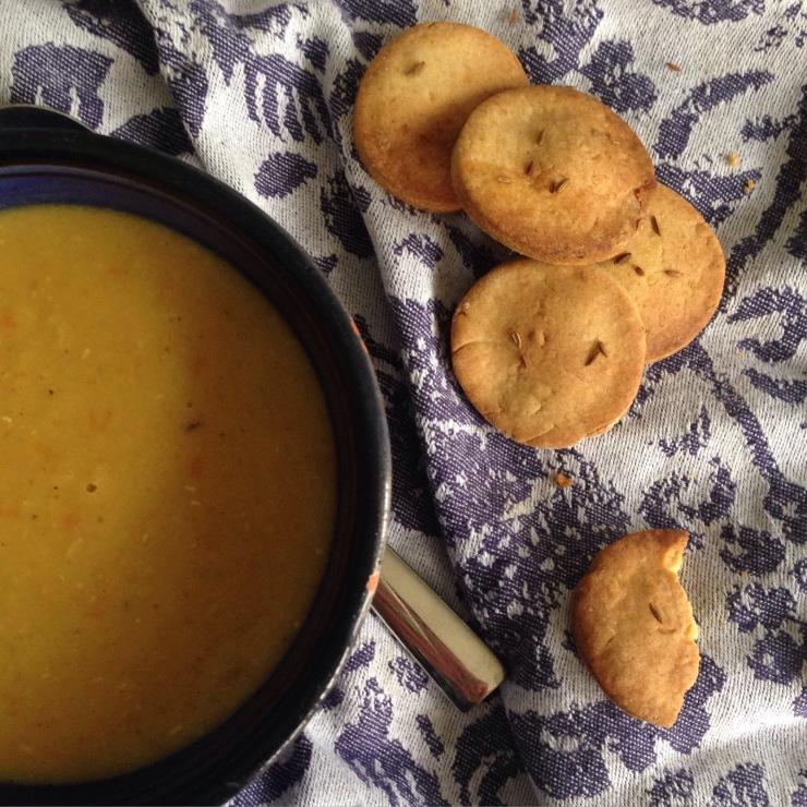 mango chutney crackers, vegan
