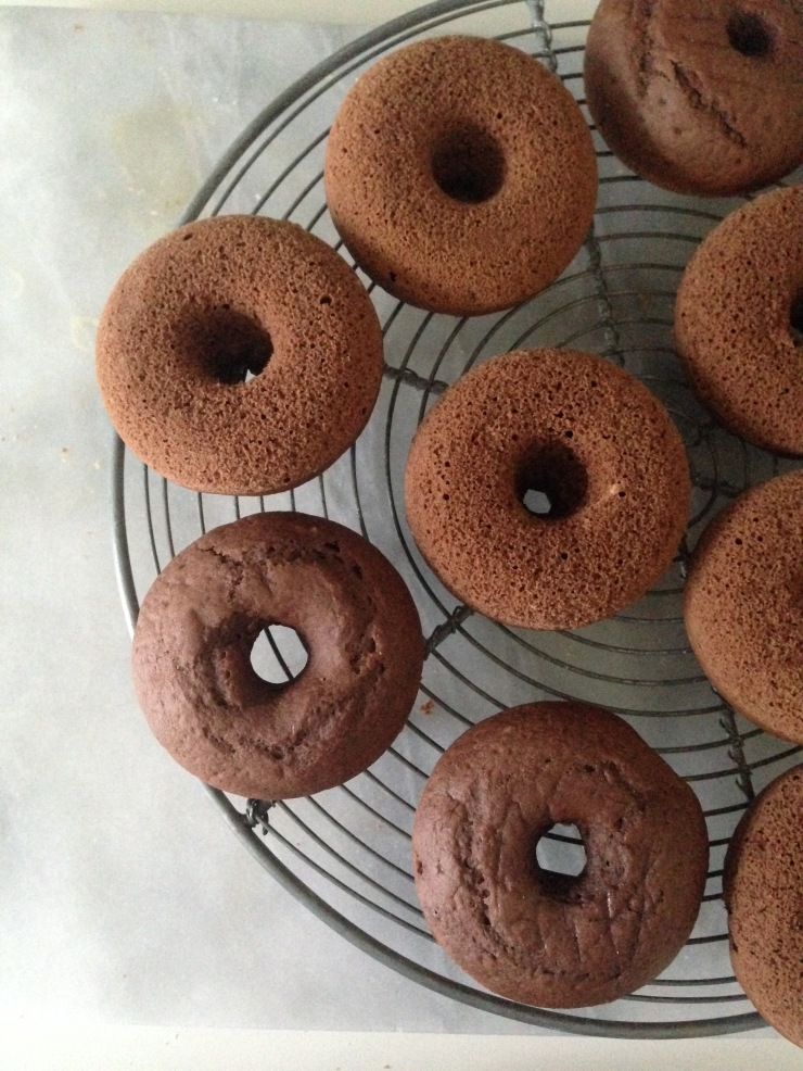 baked chocolate donuts, vegan