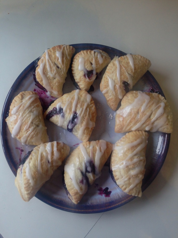 dairy-free, nut-free, egg-free blueberry turnovers