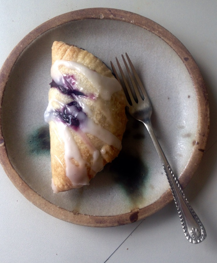 vegan blueberry turnover