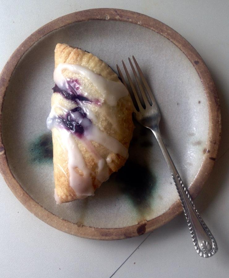 vegan blueberry turnover