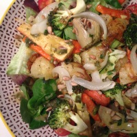 'Sunday roast' salad with mint sauce vinaigrette