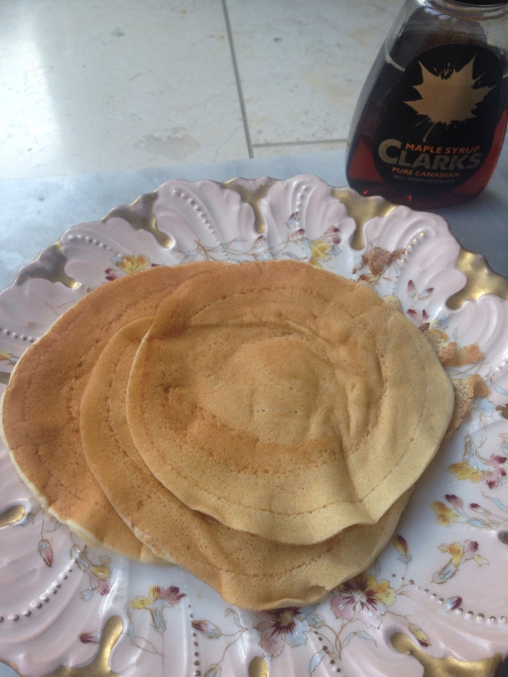 vegan maple syrup pancakes