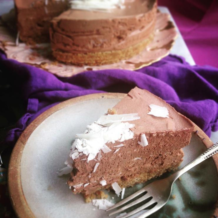 Magic dairy-free chocolate mousse cake