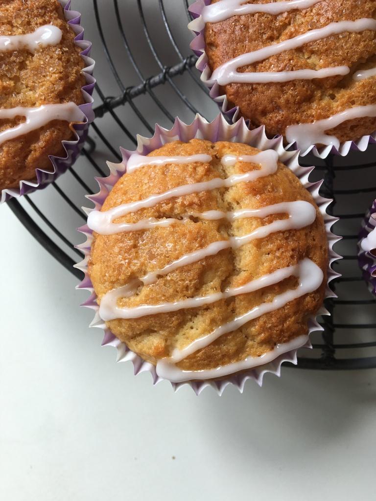 ginger muffins, no egg, no dairy