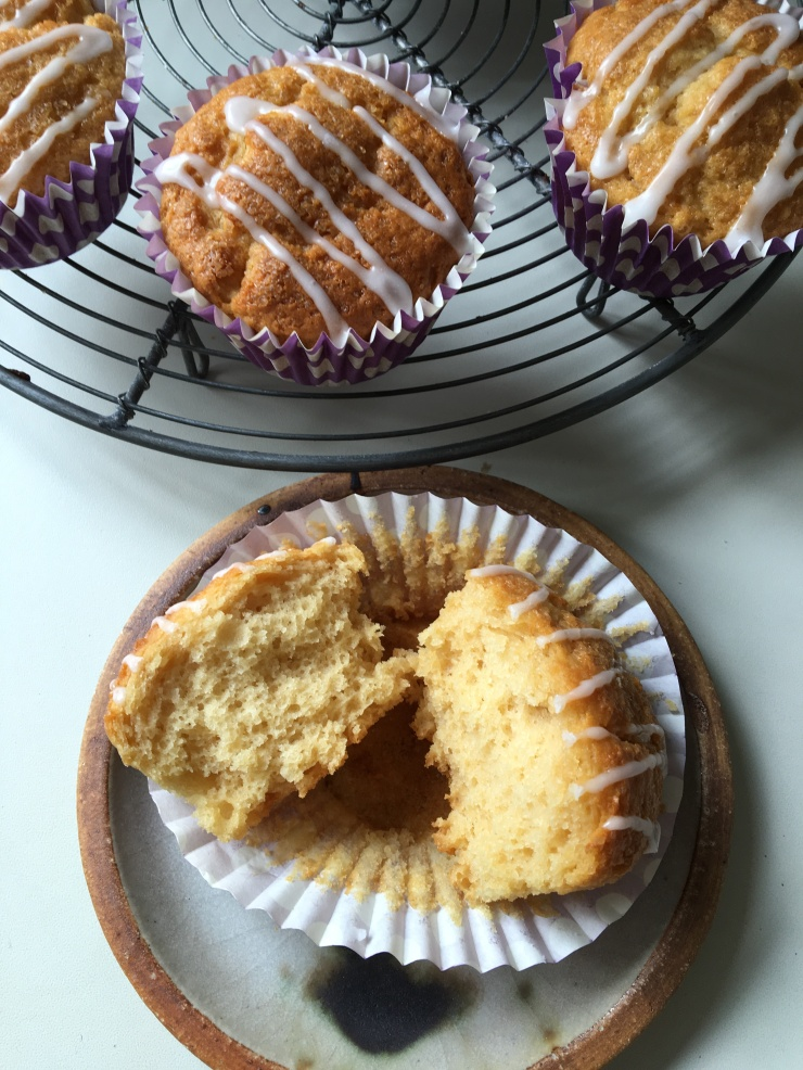 ginger muffins, no egg, no dairy