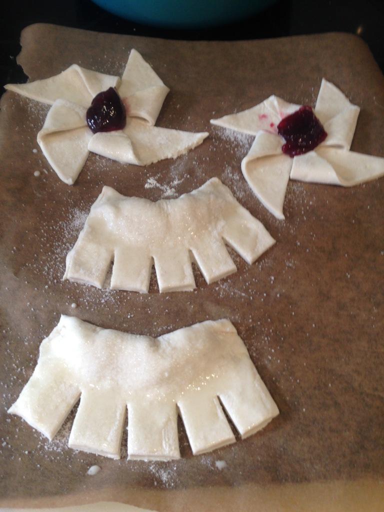 making easy egg-free danish pastries