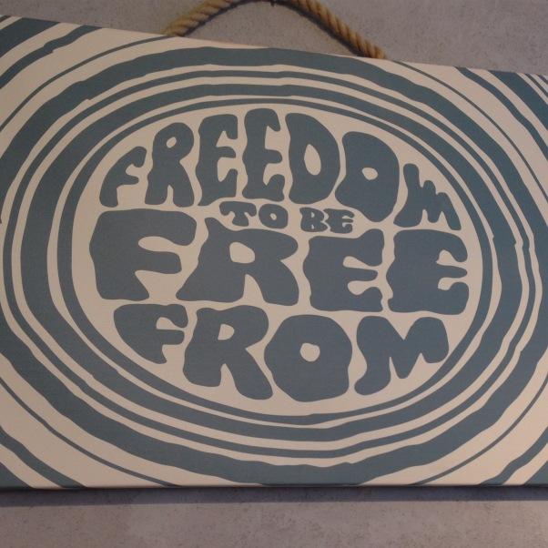 freedom to be free-from sign yorica soho dairy free gluten free vegan egg free nut free free-from vanilla fro-yo
