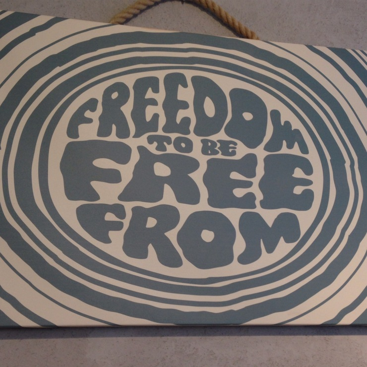 freedom to be free-from sign