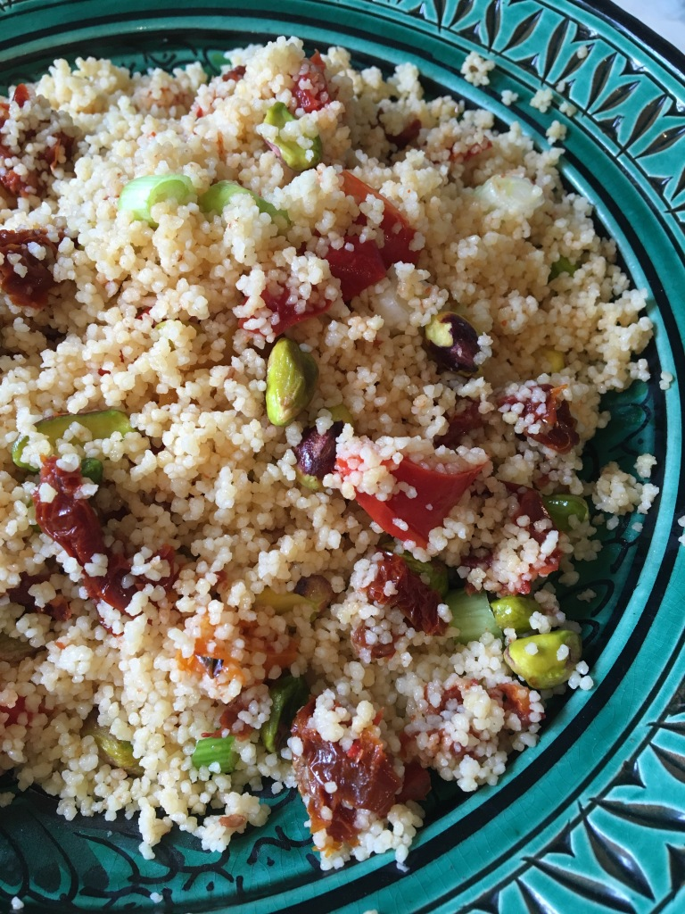 vegan tomato and pepper couscous