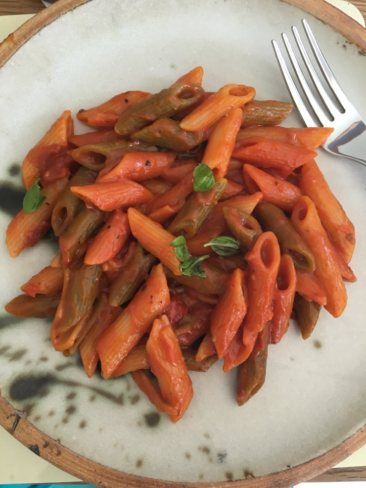rich tomato one pot pasta, vegan